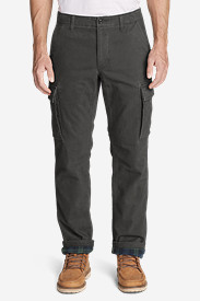 Men's Flannel-Lined Cargo Pants