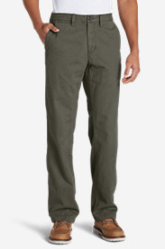 Cotton Pants for Men: Men's Flannel-Lined Chinos
