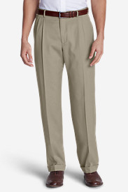 Dress Pants for Men: Men's Wool Gabardine Trousers - Pleated