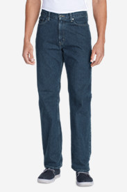 Blue Jeans for Men: Men's Relaxed Fit Essential Jeans