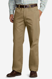 Brown Khaki Pants for Men: Men's Relaxed Fit Full Elastic Waist Chino Pants