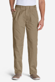 Brown Khaki Pants for Men: Men's Relaxed Fit Side Elastic Waist Chino Pants
