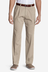White Pants for Men: Men's Performance Dress Pleated Khaki Pants - Classic Fit