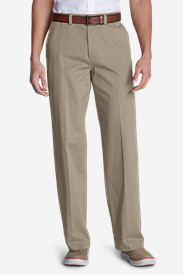Big & Tall Trousers for Men: Men's Casual Performance Chino Flat-Front Pants - Relaxed Fit