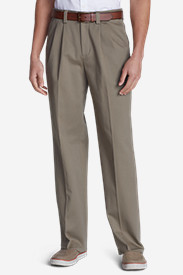 Relaxed Fit Dress Pants for Men: Men's Wrinkle-Free Relaxed Fit Comfort Waist Casual Performance Chino Pants