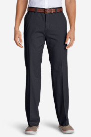 Men's Causal Performance Chino Flat-Front Pants - Classic Fit