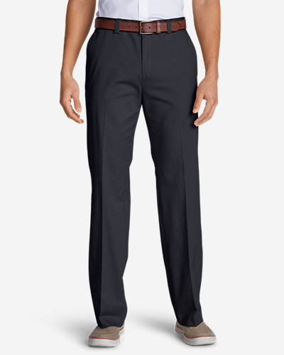 Casual Performance Chino Flat-Front Pants - Classic Fit