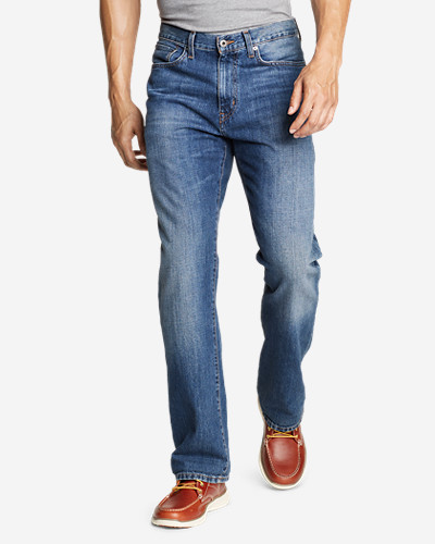 Eddie Bauer Mens Authentic Relaxed Fit Jeans