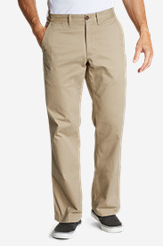Brown Khaki Pants for Men: Men's Legend Wash Chino Pants - Classic Fit