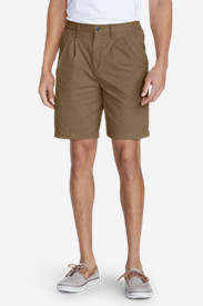 Brown Khaki Shorts for Men: Men's Legend Wash Side-Elastic Chino Shorts