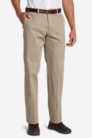 Big & Tall Trousers for Men: Men's Winkle-Free Slim Fit Flat-Front Performance Dress Khaki Pants