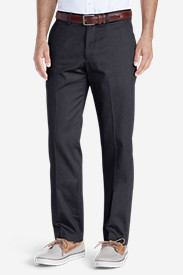 Blue Khaki Pants for Men: Men's Winkle-Free Slim Fit Flat-Front Performance Dress Khaki Pants