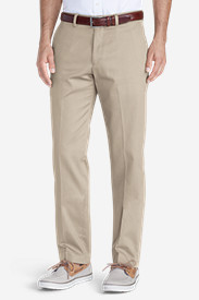White Pants for Men: Men's Winkle-Free Slim Fit Flat-Front Performance Dress Khaki Pants
