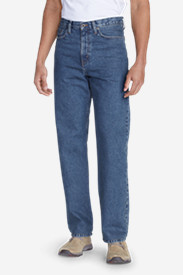 Blue Jeans for Men: Men's Traditional Fit Essential Jeans