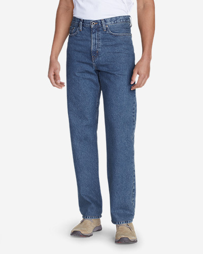 Men's Traditional Fit Essential Jeans by Eddie Bauer