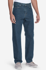 Denim Jeans for Men: Men's Traditional Fit Essential Jeans