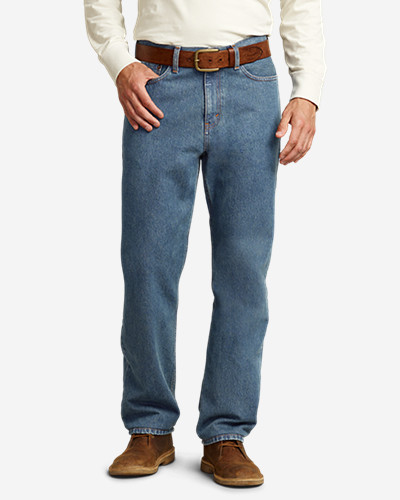Tapered Jeans for Men: Men's Traditional Fit Essential Jeans