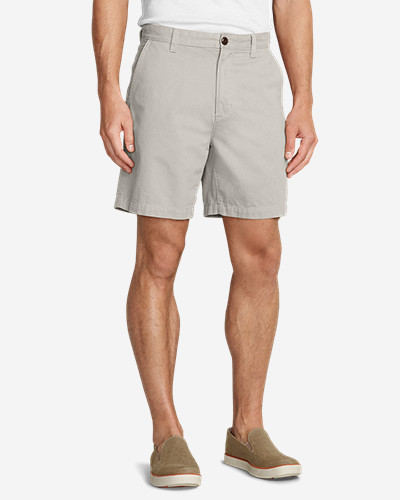 Cotton Shorts for Men: Men's Legend Wash 7' Chino Shorts - Solid