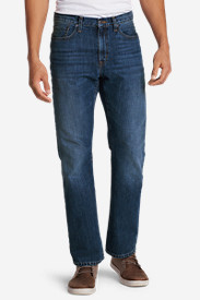 Blue Jeans for Men: Men's Authentic Jeans - Straight Fit