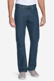 Denim Jeans for Men: Men's Straight Fit Essential Jeans