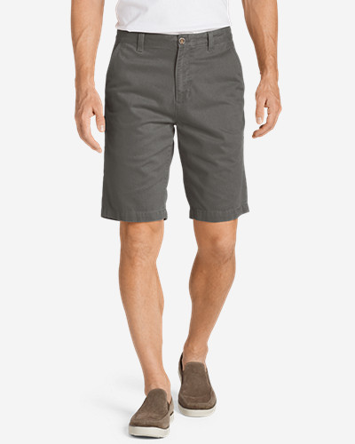 Gray Shorts for Men: Men's Legend Wash 11' Chino Shorts - Solid