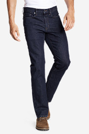 Blue Jeans for Men: Men's Flex Jeans - Straight Fit