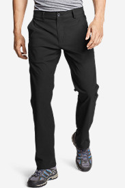 Black Big & Tall Trousers for Men: Men's Horizon Guide Chino Pants