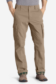 Men's Legend Wash Flannel-Lined Cargo Pants - Classic Fit