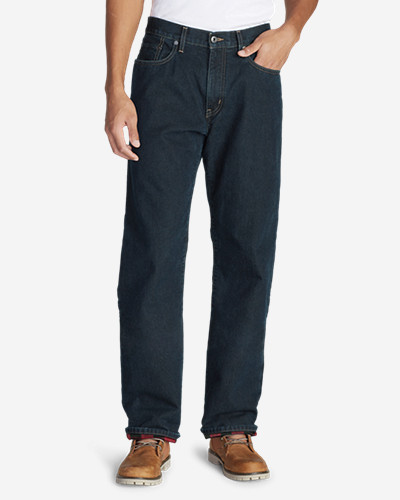 Men's Flannel-Lined Jeans - Relaxed Fit