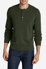 Sweaters & Sweatshirts for Men: Men's Signature Cotton Henley Sweater
