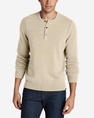 Mens Signature Cotton Henley Sweater Eddie Bauer