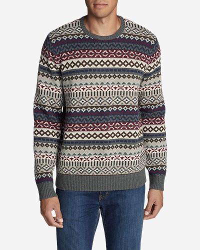 Men's Fair Isle Crew Sweater | Eddie Bauer