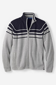 Men's Signature Cotton Full-Zip Stripe Sweater