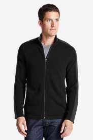 Men's Signature Cotton Full-Zip Sweater - Stripe