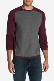 Red Sweaters & Sweatshirts for Men: Men's Talus Textured Crewneck Sweater