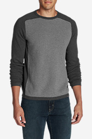Gray Sweaters & Sweatshirts for Men: Men's Talus Textured Crewneck Sweater