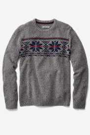 Gray Sweaters & Sweatshirts for Men: Men's Snow Bridge Crew Sweater