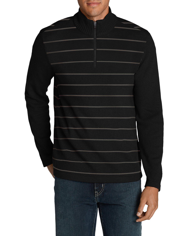 Eddie Bauer Mens Long-Sleeve Sidecut 1/4-Zip Sweater (Multi Colors)