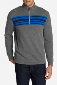 Gray Sweaters & Sweatshirts for Men: Men's Long-Sleeve Sidecut 1/4-Zip Sweater