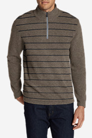 Beige Sweaters & Sweatshirts for Men: Men's Long-Sleeve Sidecut 1/4-Zip Sweater
