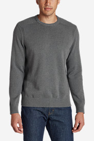 Gray Sweaters & Sweatshirts for Men: Men's Signature Cotton Crew Sweater
