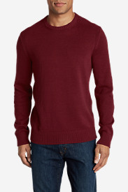 Red Sweaters & Sweatshirts for Men: Men's Signature Cotton Crew Sweater