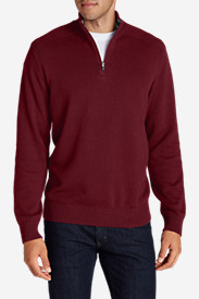 Red Sweaters & Sweatshirts for Men: Men's Signature Cotton 1/4-Zip Sweater