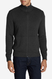 Men's Signature Cotton Full-Zip Mock Sweater