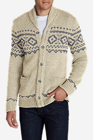 Mens New Fall Arrivals: Men's Snow Bridge Cardigan Sweater