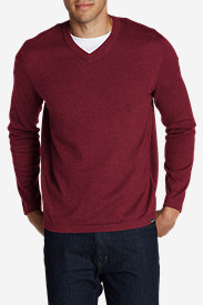 Red Sweaters & Sweatshirts for Men: Men's Talus V-Neck Sweater
