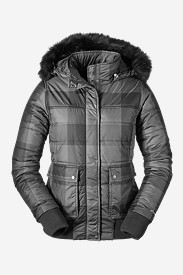 Insulated Jackets for Women: Women's Cross Town Bomber - Plaid