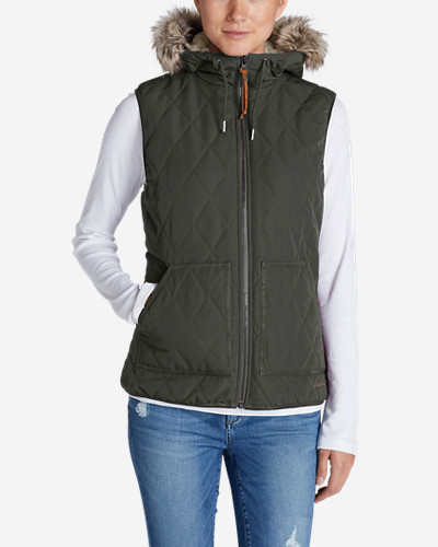 Snow Vests: Women's Snowfurry Hooded Vest