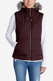 Red Vests: Women's Snowfurry Hooded Vest