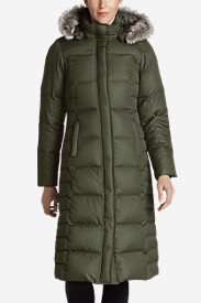 Green Trench Coats for Women: Women's Lodge Down Duffle Coat